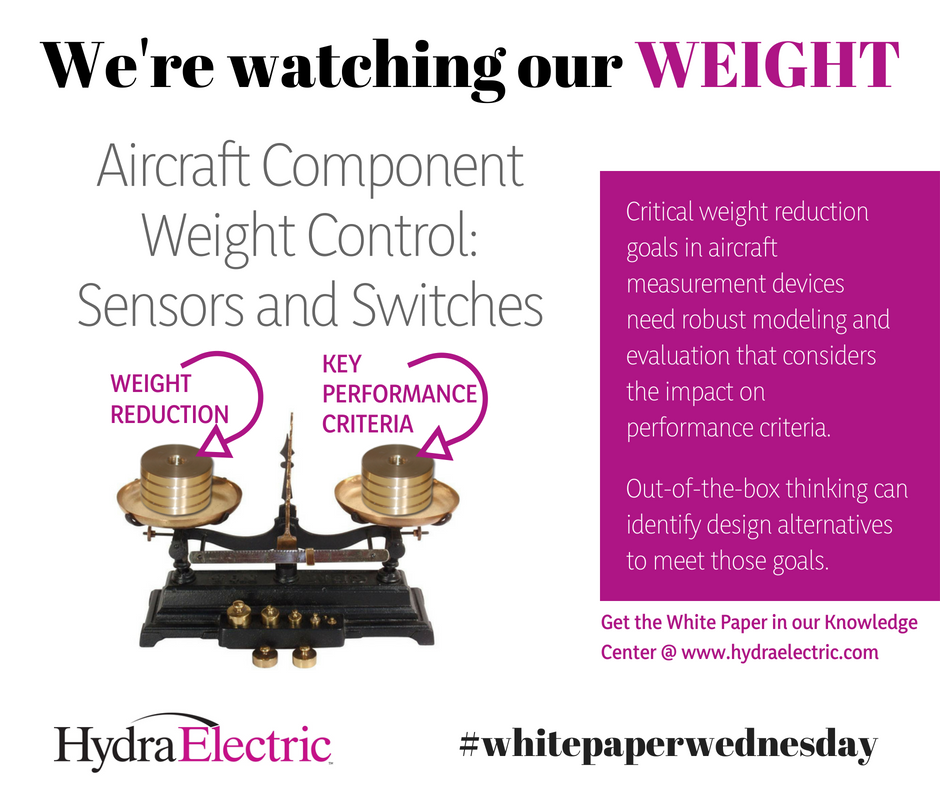 We're Watching Our Weight – in sensors and switches, that is