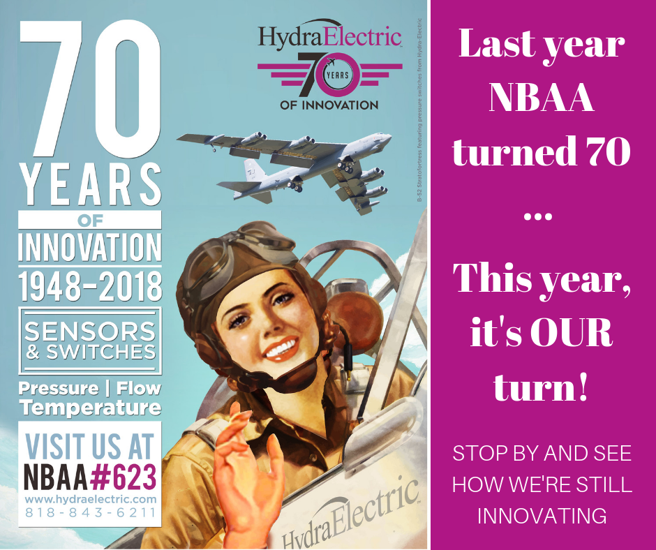 At NBAA-BACE Celebrating Our 70th With Fellow Industry Pioneer #NBAA