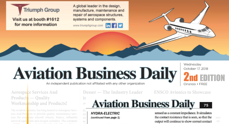 Hydra Gets Front Page Coverage at NBAA 2018