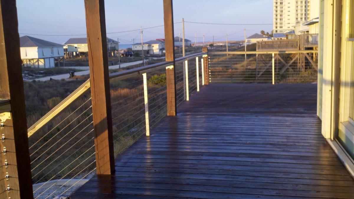 Beach House Square Stainless Rail Systems