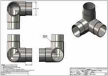 316 Stainless 3 way Elbow