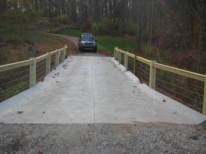 6x6 Post Rail Bridge Cable Infill 1