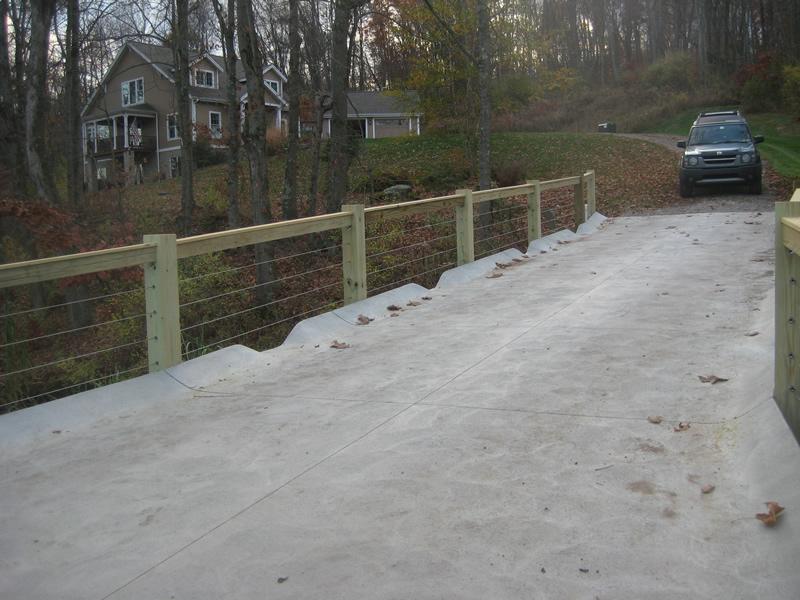 6x6 Post Rail Bridge Cable Infill 3