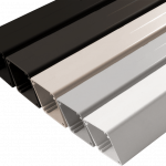 Un-Drilled Intermediate post for Aluminum Square 5 color systems.