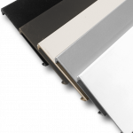 Snap Cover (snaps to underside of Top Rail) for Aluminum Square 5 color systems.