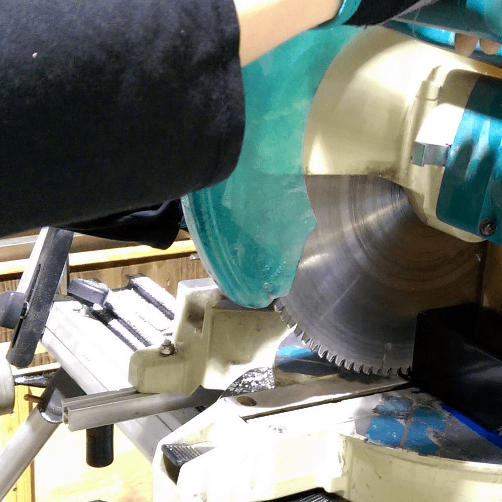 Aluminum post cutting service
