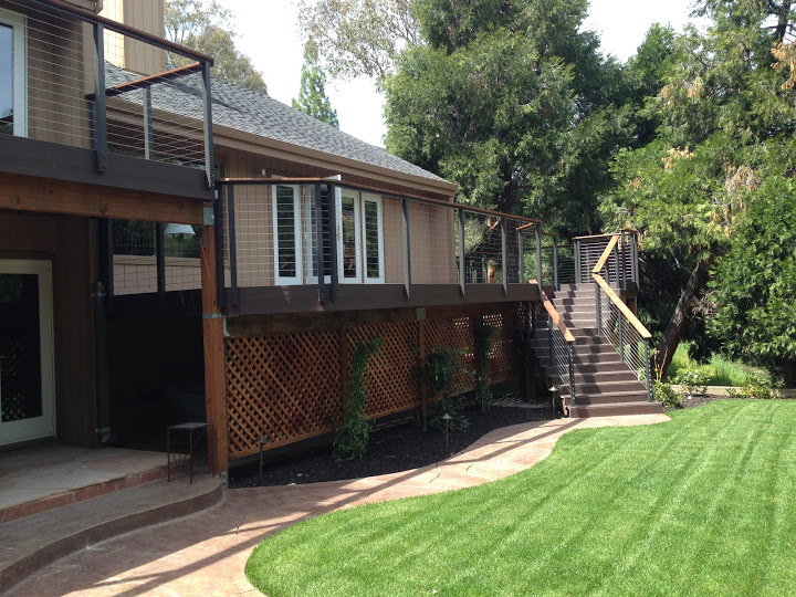 Bronze Post to Post WoodTR Cable Infill Pleasanton CA 1