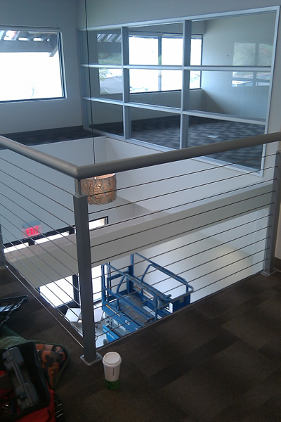 Office Balcony Cable Infill System 2