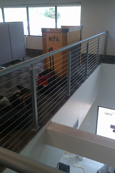 Office Balcony Cable Infill System
