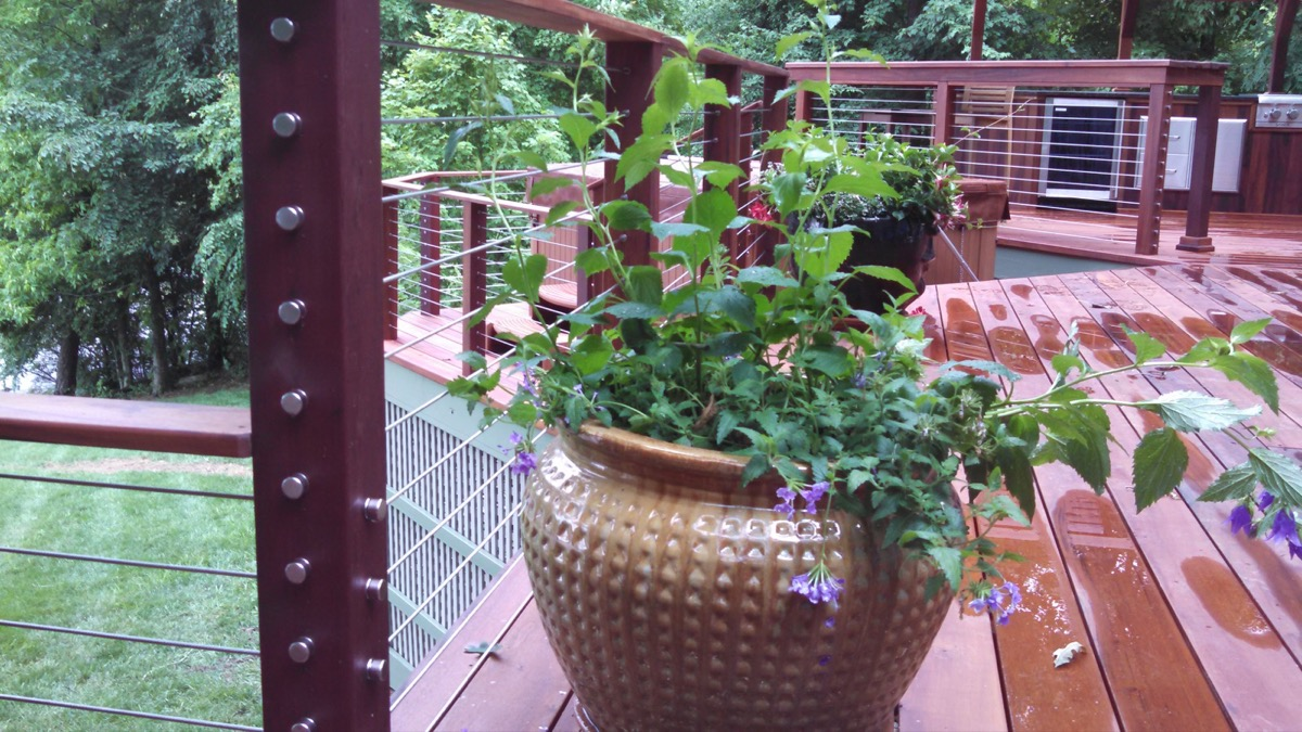 Lake Gaston NC IPE Post and Rail with Stainless Cable Railing and QuickNut End Hardware (3)