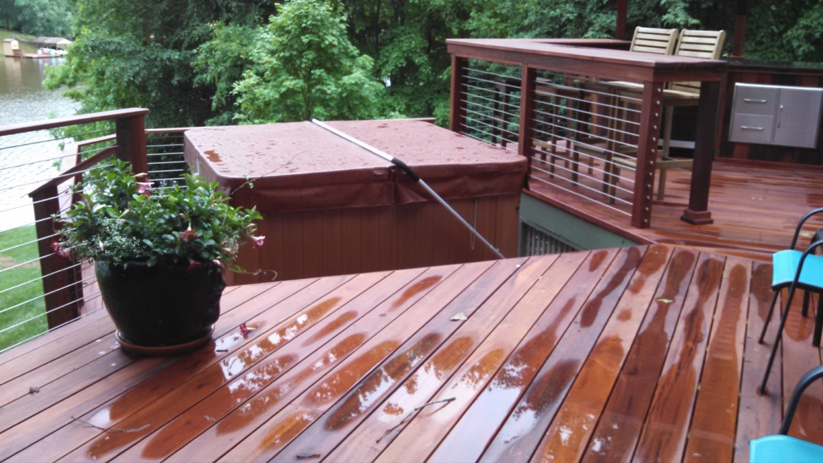 Lake Gaston NC IPE Post and Rail with Stainless Cable Railing and QuickNut End Hardware (4)