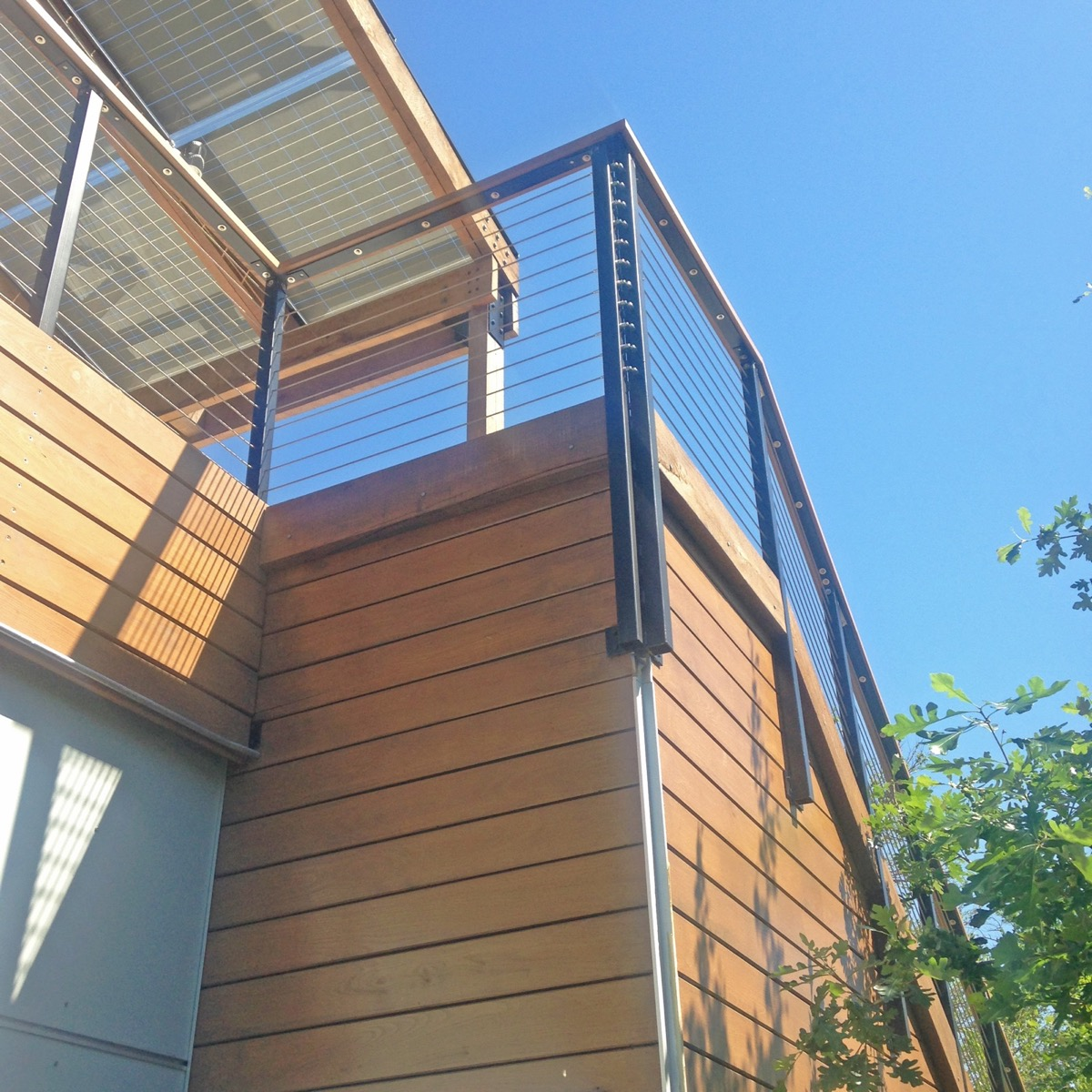 Railing for Solar Panel Structure in Minneapolis, MN