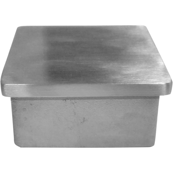 Post cap for stainless steel square intermediate posts.