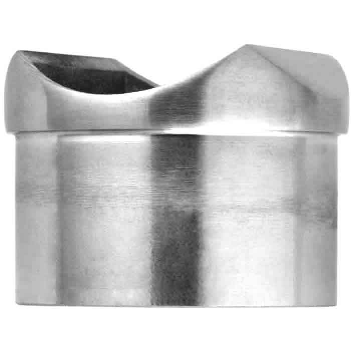 2in Round beveled edge coped collar post connector