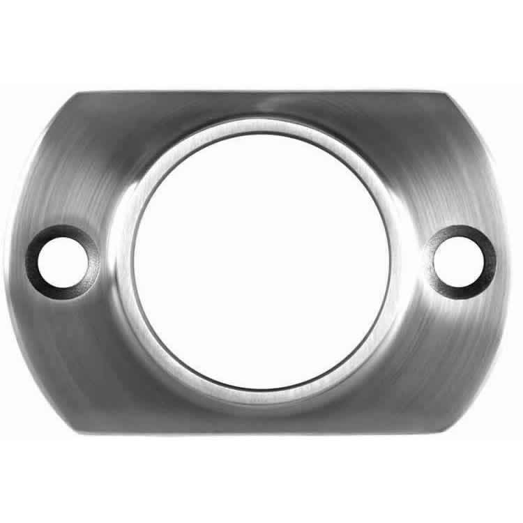 2in narrow floor or wall mount flange with 2 mounting holes and narrow base for tight areas
