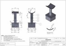 2 inch 316 Stainless Intermediate Post Cap Connector Adjustable RADIUS Saddle HI