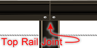 Top Rail butts on center of post.