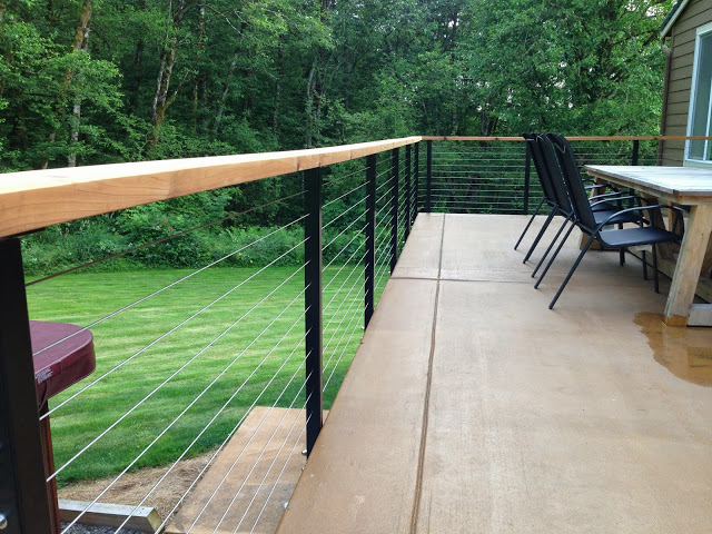Yacolt WA Stainless Cable Railing Installation 2