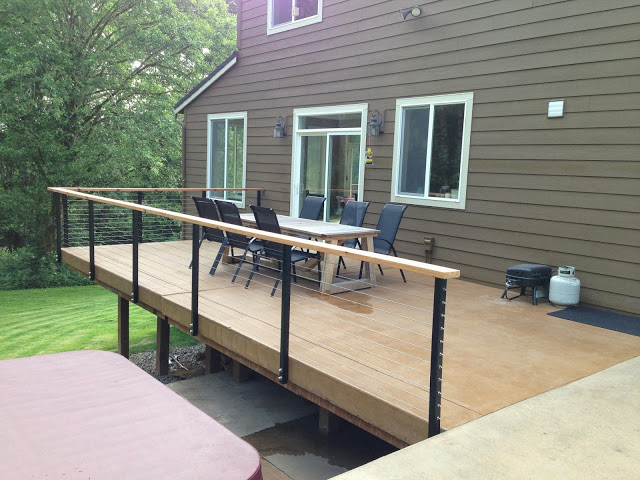 Yacolt WA Stainless Cable Railing Installation 3