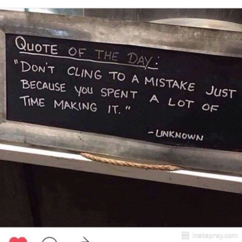 Thoughts: Clinging to Mistakes