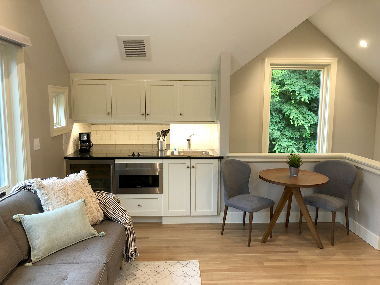Rental Unit Living Room & Kitchenette