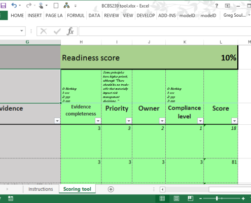 BCBS program tool - readiness score