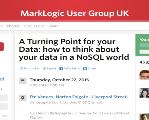 2015-10-22 Marklogic user group