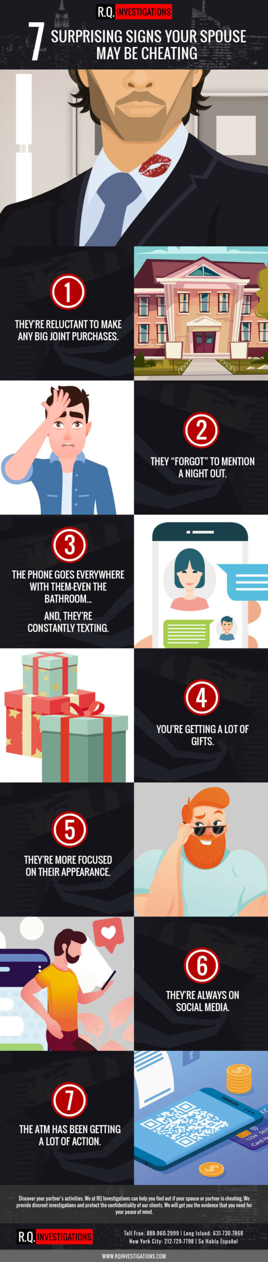 7 Surprising Signs Your Spouse-May Be Cheating RQ Private-Investigations Infographic