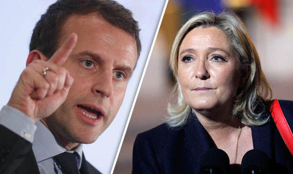 Marine Le Pen and Emmanuel Macron in French elections