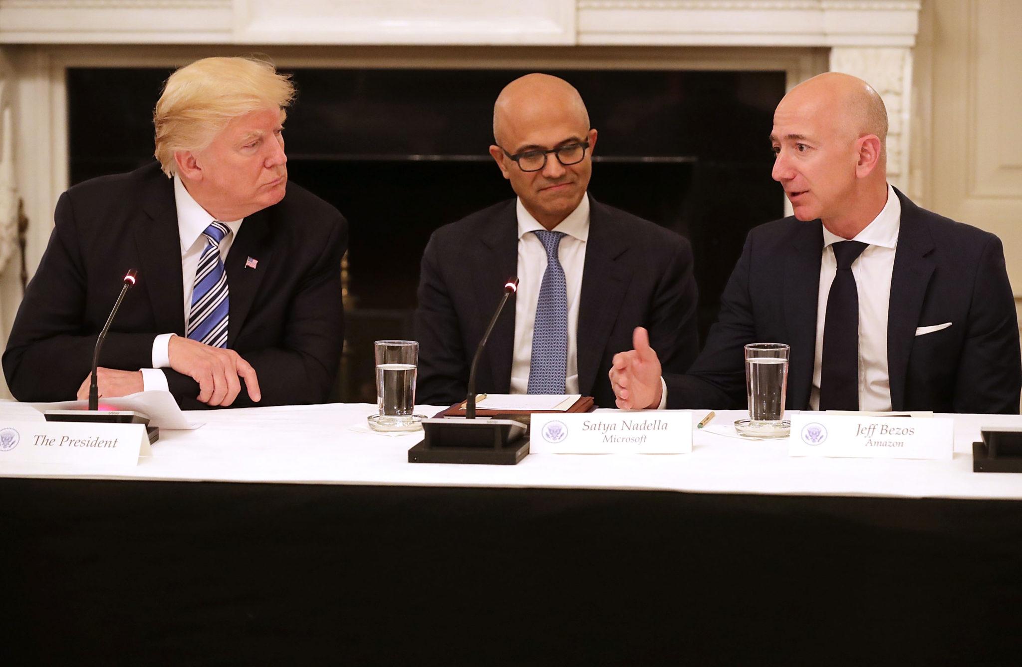 President Trump and Jeff Bezos - Econ Alerts