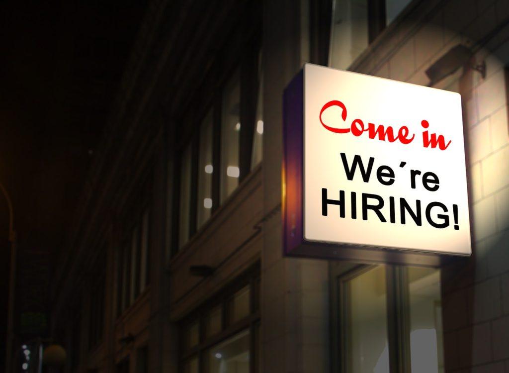 come in we're hiring | EconAlerts
