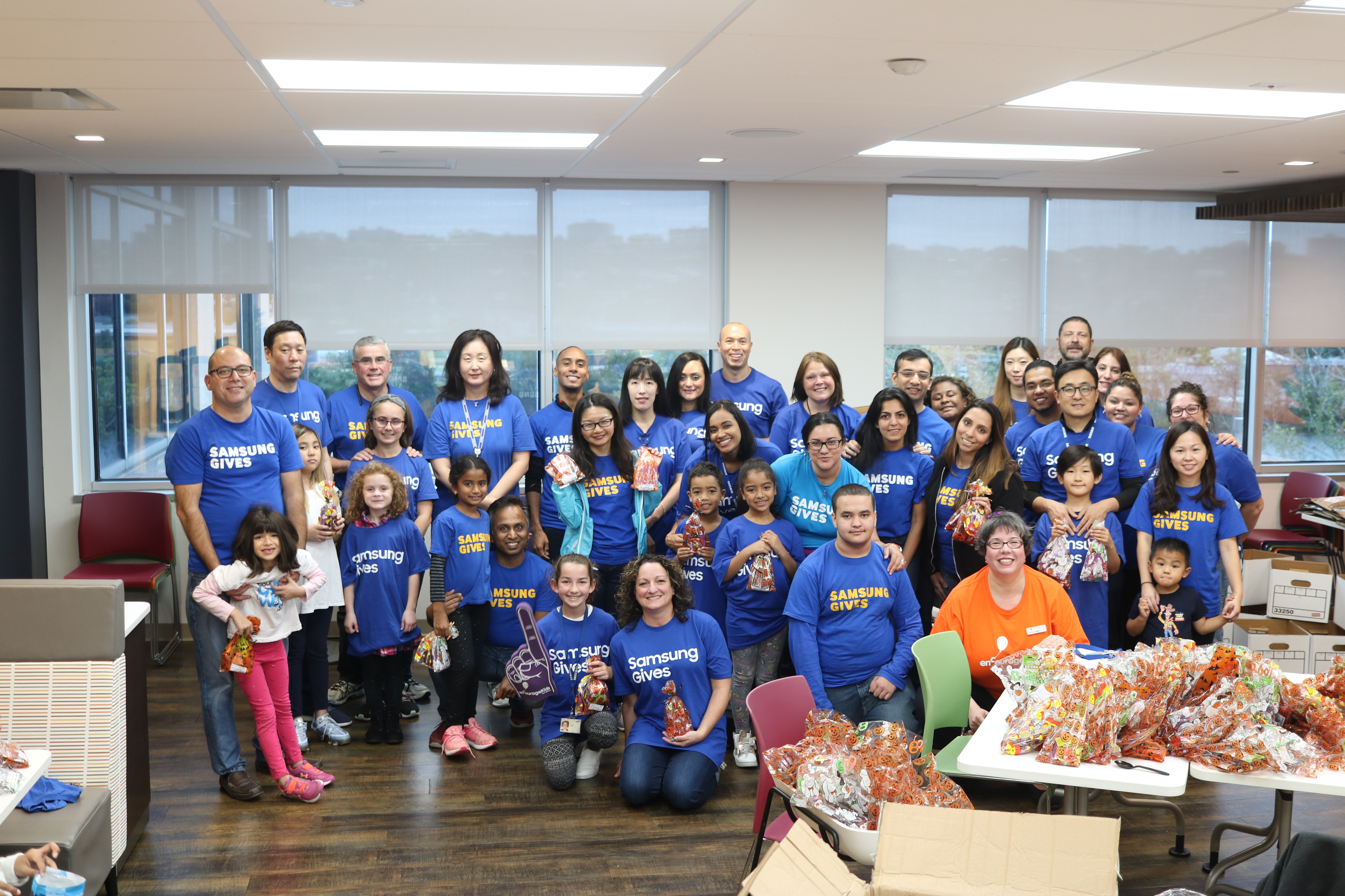 enCourage Kids Partners with Samsung Day of Service