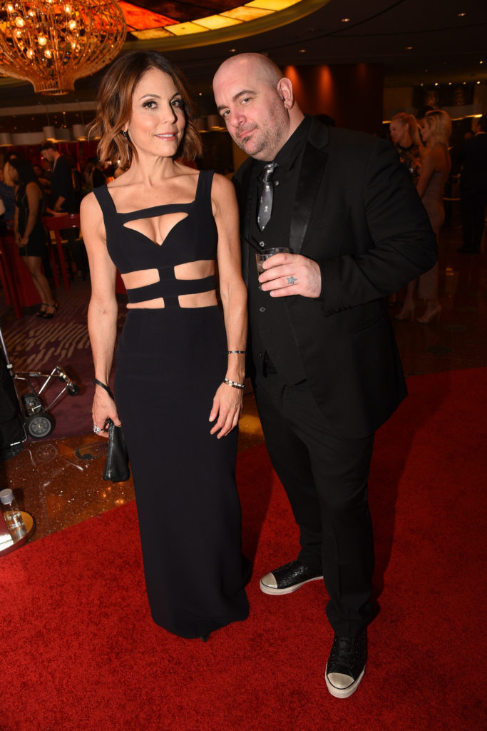 Chris Santos and Bethenny Frankel enjoy the Chris Santos and TAO Group opening of Beauty & Essex at The Cosmopolitan of Las Vegas_Al Powers