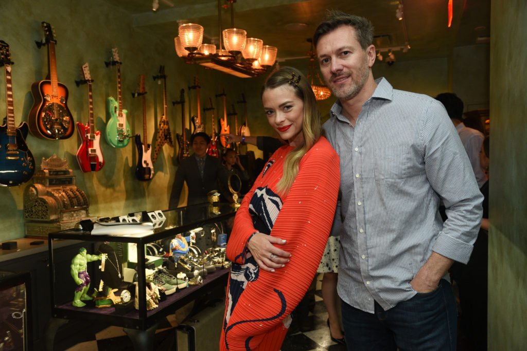 Jaime King and Kyle Newman at the Chris Santos and TAO Group opening of Beauty & Essex at The Cosmopolitan of Las Vegas_Al Powers