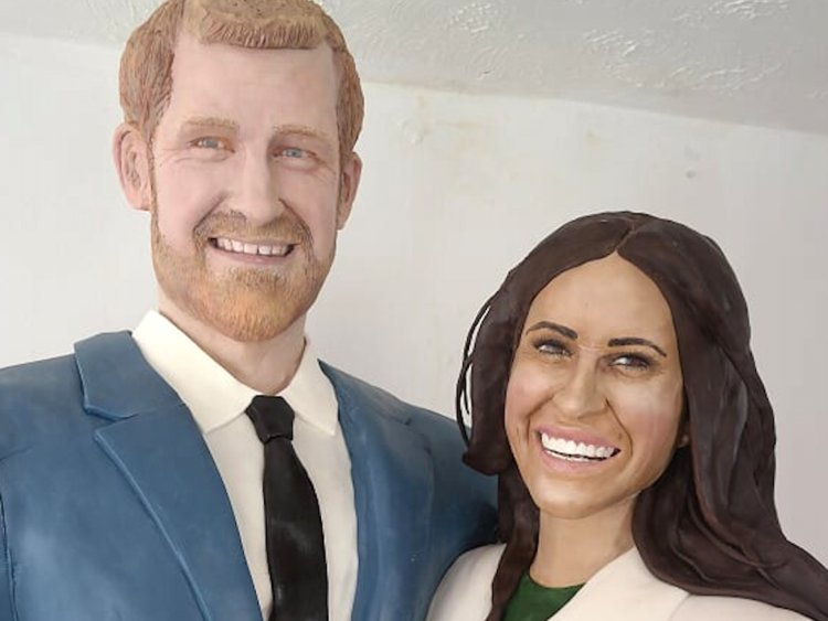 Prince Harry and Meghan Markle Get Turned Into a Life-Size Cake