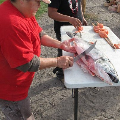 Butchering Salmon