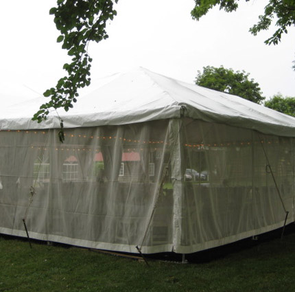 Mesh Sidewall Installed - AC Party Rentals