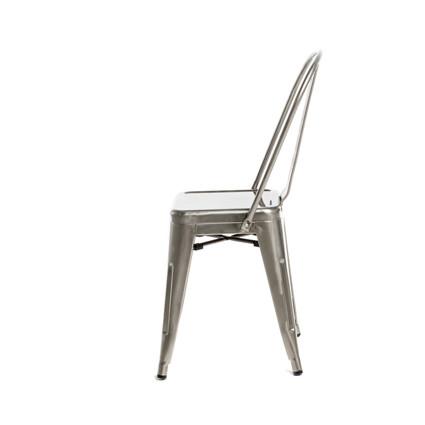 Monroe Gunmetal Chair (Side View) - AC Party Rentals