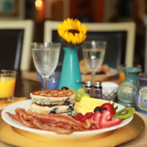Blueberry pancake breakfast | Woodstock Inn B&B