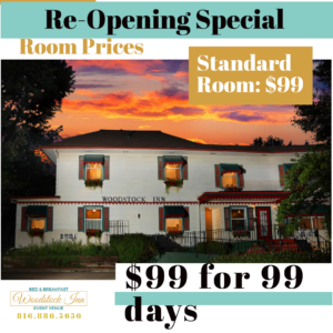 re-opening special | Woodstock Inn B&B
