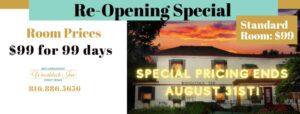 $99 room special ends 8/31 | Woodstock Inn B&B