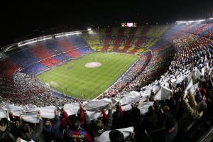Vista interior, Estadio Camp Nou del Barça