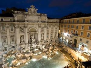 Fontana di Trevi de noche