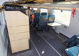 Espacio para silla de ruedas y maletero en Turista