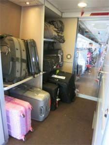 Sector para equipaje (final de cada vagón)