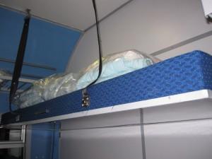 Compartimento con cuchetas abiertas