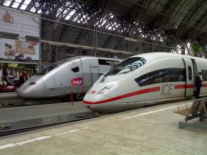 Trenes ICE aleman y TGV frances