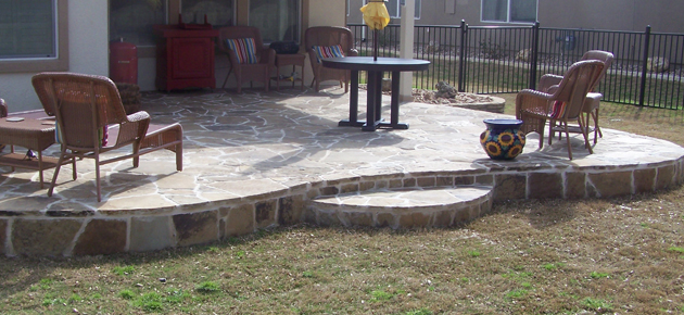 Stone Patios, Walls, Flower Beds and Concrete
