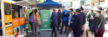 "<h5><a href=""http://wastematters.hornsby.nsw.gov.au/consultation/"">'Waste Matters' pop-up stalls</a> were located at Hornsby, Beecroft, Galston and Berowra Heights, where we asked the community what we should do to reduce waste going to landfill  – <strong>Aug 2018</strong> </h5>"