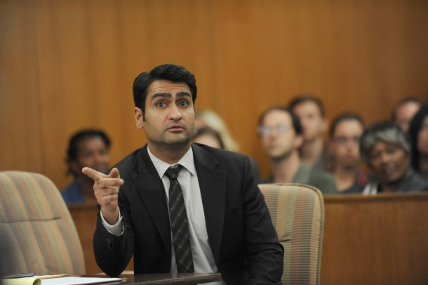THE GRINDER:  Guest star Kumail Nanjiani in the series premiere episode of THE GRINDER airing Tuesday, Sept. 29 (8:30-9:00 PM ET/PT) on FOX.  ©2015 Fox Broadcasting Co.  Cr:  Ray Mickshaw/FOX.